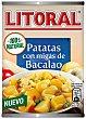 Patatas con migas de bacalao  lata 420 g Litoral