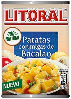 Litoral Patatas con migas de bacalao  lata 420 g