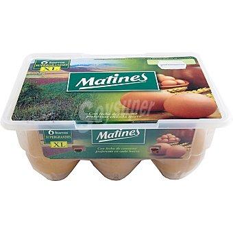 Matines Huevos blancos morenos clase XL Estuche 6 unidades