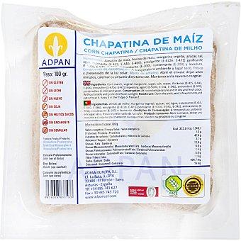 Adpan Chapatina pan de maíz sin gluten sin leche sin huevo 2 unidades envase 100 g 2 unidades