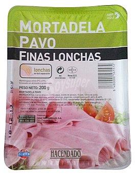 Hacendado Mortadela pavo lonchas finas Paquete 200 g
