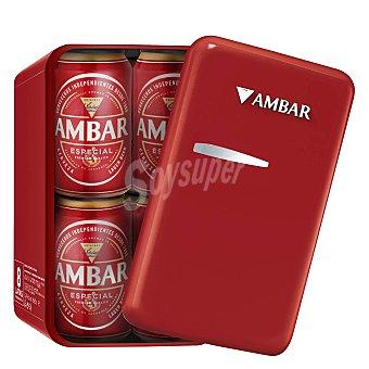 Ambar Cerveza especial envase lata nevera Pack 8x33 cl