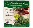 Paté de cerdo ibérico de pueblo con hierbas del lugar Estuche 70 g La pateria de sousa