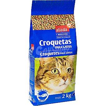 Aliada Croquetas para gatos mix pescado Bolsa 2 kg