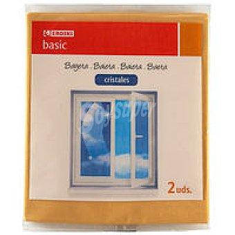 Eroski Basic Bayeta limpia cristales 35x40 Pack 2 unid