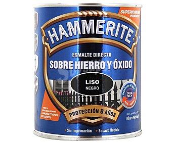HAMMERITE Esmálte metálico para uso exterior antióxido y de color negro brillante 0,75 litros