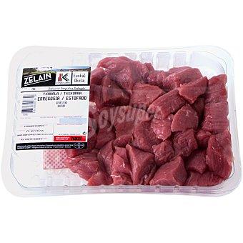 HARAKAI Ternera label carne magra troceada para guisar peso aproximado Bandeja 600 g