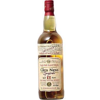 GLEN NESS Whisky escocés de malta 12 años elaborado para grupo El Corte Inglés Botella 70 cl