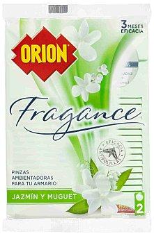 Orion Pinza antipolillas aroma jazmín y muguet Bolsa 2 uds
