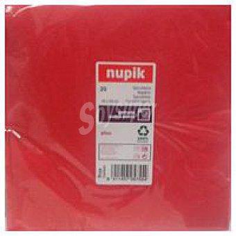 Nupik Servilletas rojas 40x40 Paquete 20 unid