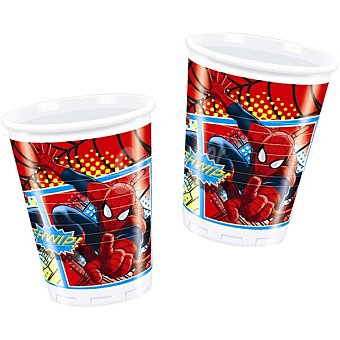 Spiderman Marvel Vaso decorado paquete 8 unidades 20 cl
