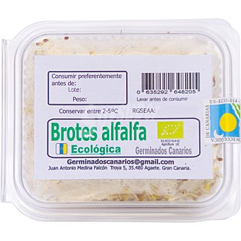 GERMINADOS CANARIOS Brotes de alfalfa ecologica Tarrina 80 g