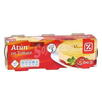 DIA Atún en tomate Pack de 3 latas 156 gr