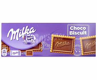 MILKA Chocobiscuits galletas con chocolate 6 paquetes individuales de 2 unidades caja 150 g 2 unidades 150 g