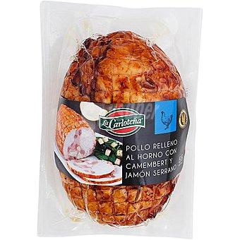 La Carloteña Pollo relleno al horno con camembert y jamón serrano sin gluten pieza 600 g