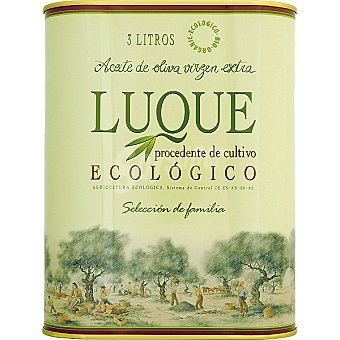 LUQUE aceite de oliva virgen extra ecológico  lata 3 l