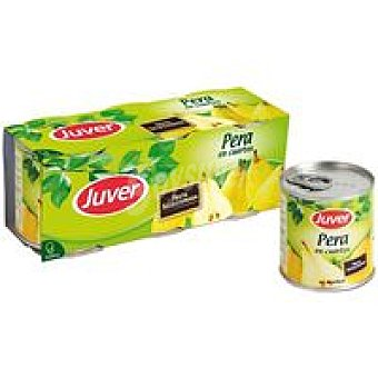 Juver Pera en cuartos Pack 3x225 g
