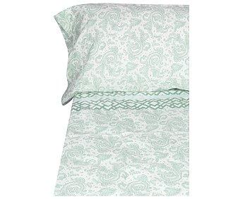Productos Económicos Alcampo Juego de sábanas 50% algodón, 50% poliéster, estampado color azul, 180cm alcampo
