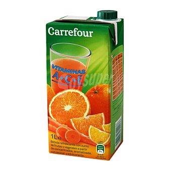 Carrefour Néctar A +C + E de frutas y vegetales Brick de 1 L