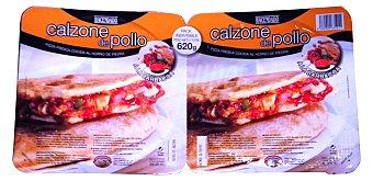Hacendado Pizza fresca calzone pollo barbacoa 2 u - 620 g