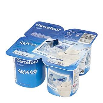 Carrefour Yogur griego natural Pack de 4x125 g