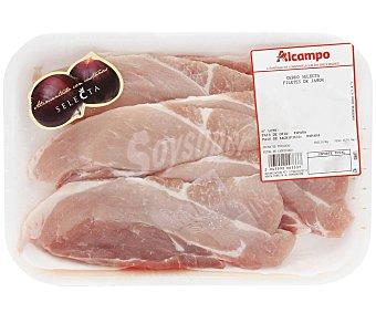 Cerdo selecta Filetes de jamón 350 gramos aproximados
