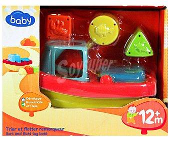 Baby Auchan Barco con piezas de diferentes formas y colores para encajar 1 Unidad