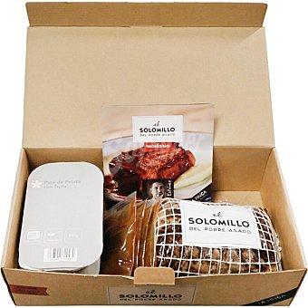 LA FINCA Solomillo del pobre asado contiene 4 sobres de salsa del asado, puré de patata con trufa y recetario Caja 1300 g