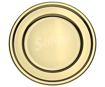 Actuel Pack de 6 platos llanos deshechables de color oro, 23 centímetros de diámetro pack de 6 unidades