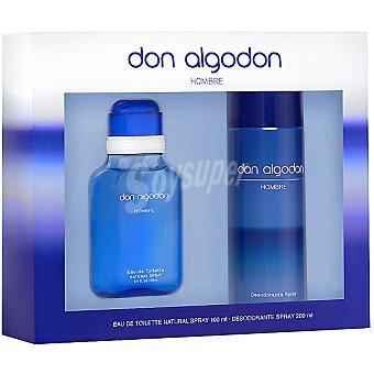 Don Algodón eau de toilette natural masculina + desodorante spray 200 ml Spray 100 ml