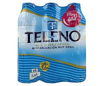 Teleno Agua mineral Botella de 50 cl. pack de 6