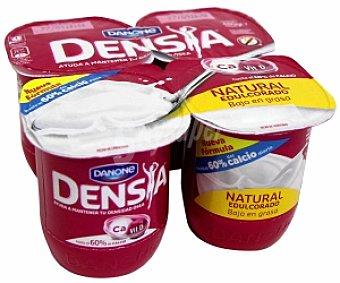 DENSIA de DANONE Yogur natural bajo en grasa con calcio Pack 4 Unidades de 120 Gramos