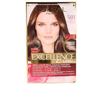 L'Oréal Tinte castaño radiante nº 5.03 excellence l´oreal 1 unidad
