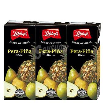 Libby's Néctar de pera y piña Pack 3 x 20 cl