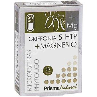 Prisma natural Grifonia 5HTP + Magnesio mejora el estado de ánimo y combate estados leves de ansiedad ápsulas usado en alteraciones del sueño envase 30 c