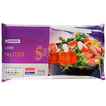 Eroski Palitos de surimi Bandeja 200 g