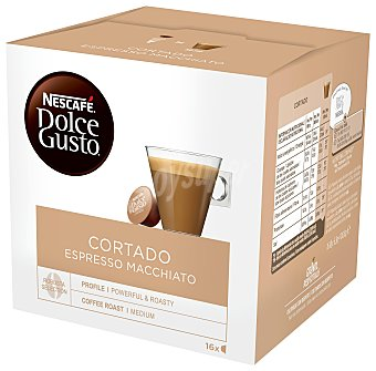 Dolce Gusto Nescafé Café espresso cortado en cápsulas Nescafe Dolce Gusto Pack de 16 unidades de 6,3 g