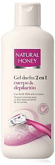 Natural Honey Gel de ducha 2 en 1 Cuerpo & Depilacion con aloe vera anti-irritante bote 600 ml Bote 600 ml