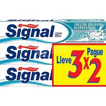 Signal Pasta de dientes frescor explosivo blanqueador Pack 3 tubo 75 ml
