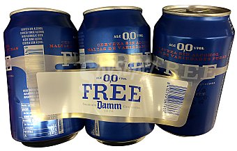 Damm Free Damm Cerveza Sin Alcohol Lata 33cl (pack 6x33cl) pack 6 x 33 cl