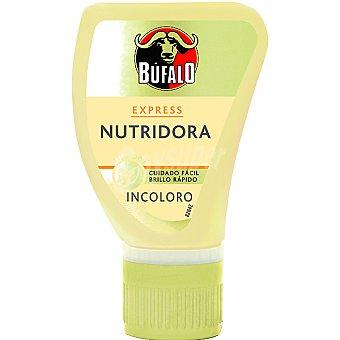 Bufalo Limpia calzado crema express nutridora incoloro con esponja Envase 50 ml