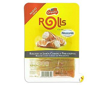 Campofrío Rollitos de Jamón Curado y Queso Philadelphia 96 g