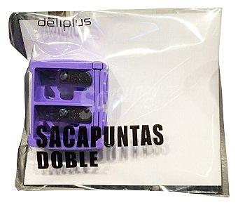 Deliplus Sacapuntas doble (lapiz fino y grueso) 1 unidad