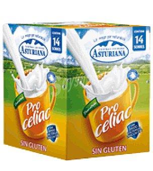 Central Lechera Asturiana Producto lácteo en polvo Desnatado Pro Celiac Sin Gluten sobres 14 ud