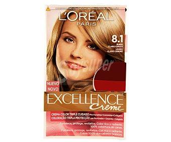 L'Oréal Tinte de color rubio claro ceniza nº 8.1 excellence Pack de 2 unidades