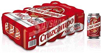 Cruzcampo Cerveza rubia nacional pack 24 latas 33 cl Pack 24 latas 33 cl