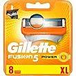 Cargador 5 Power Pack 8 uds Gillette Fusion