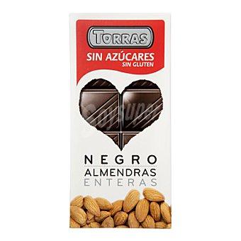 Torras Chocolate negro puro/almendras enteras sin azúcar - Sin Gluten 150 g
