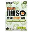 Sopa de miso con calabaza y verduras ecológica Pack 6x60 g King Soba
