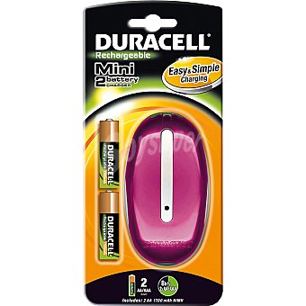 Duracell Mini cargador de pilas cef 20 blister + 2 pilas AA 1 unidad